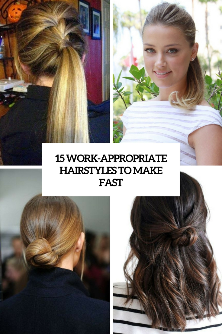 15 Work-Appropriate Hairstyles To Make Fast