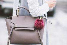 16 a tan Celine belt bag is a nice basic option for work and dates
