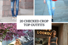20 Beautiful Outfits With Checked Crop Tops