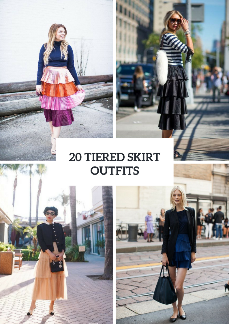 Beautiful Outfits With Tiered Skirts
