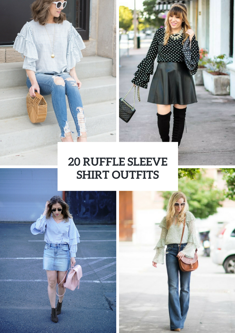 Outfits With Ruffle Sleeve Shirts