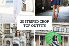 20 Outfits With Striped Crop Tops