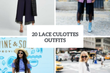 20 Spring Looks With Lace Culottes