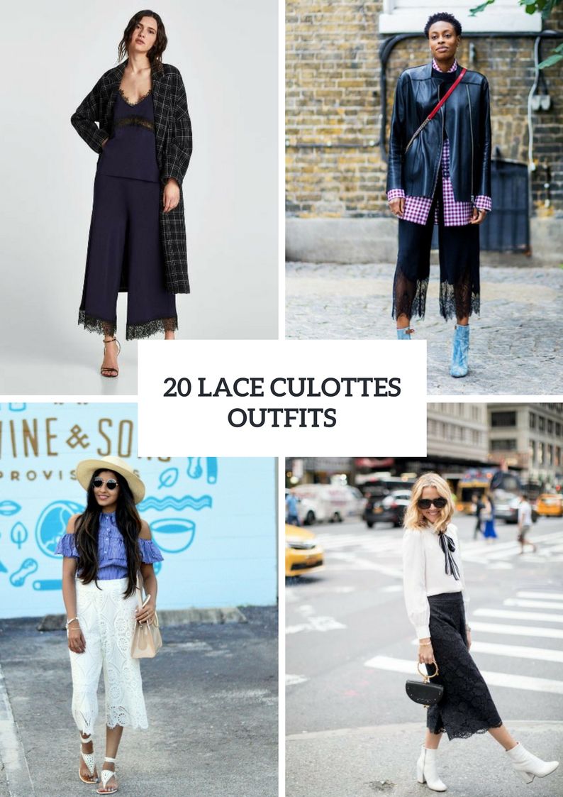 Spring Looks With Lace Culottes