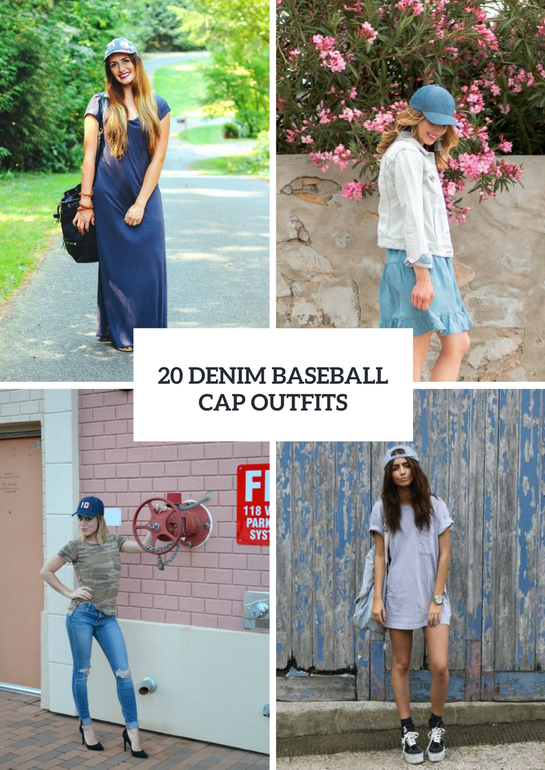 Spring Outfits With Denim Baseball Caps