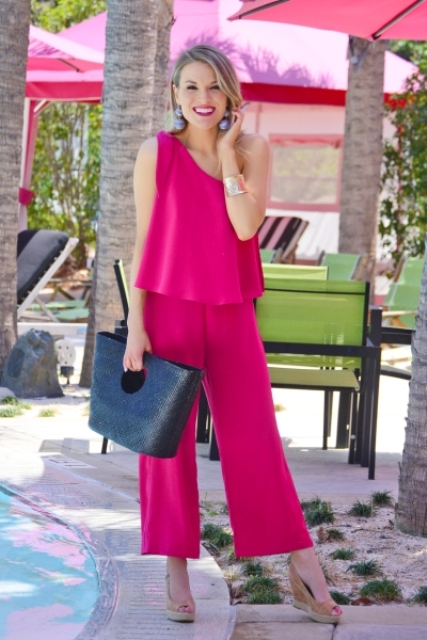 dfb432523df 20 Outfits With One Shoulder Jumpsuits And Rompers - Styleoholic