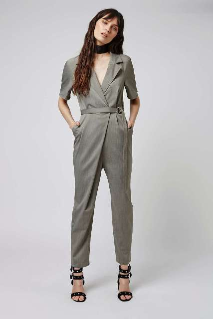 f4d362bb1e6 20 Outfits With Wrap Top Jumpsuits And Rompers - Styleoholic