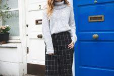 stylish look with turtleneck