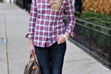 cute spring plaid shirt look