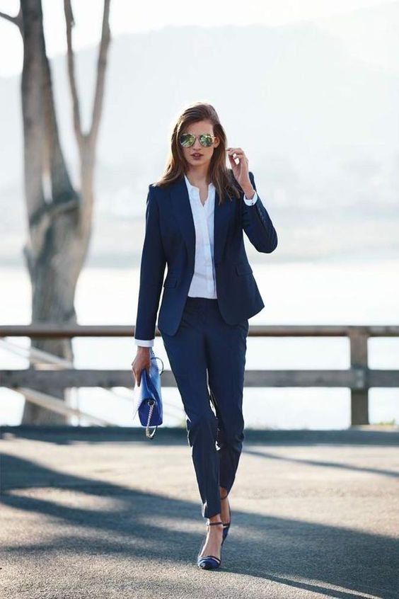 pantsuit spring work look