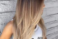 02 beautiful dark to bronde ombre cascading long hair looks very catchy