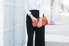 spring black and white work outfit