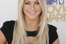 06 long blonde cascading hair and sleek styling is a classic option for everyone