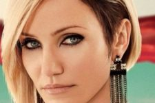 08 Cameron Diaz rocking a gorgeous asymmetrical bob for a strong wow factor in her look