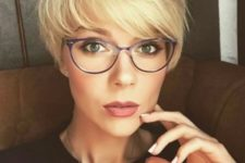 09 a stylish longer pixie haircut with a fringe in blonde looks very cute and dimensional