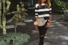 b&w striped look for spring to summer period