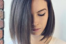 10 asymmetrical medium bob worn with a side part is a chic and timeless idea