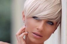13 style your fringe on a longer pixie haircut to look softer and more feminine