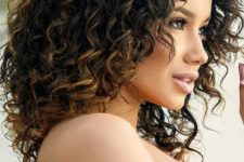 14 highlight your natural curls with highlights or light ombre to look even more gorgeous
