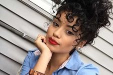 15 a curly bun with some curls down is a gorgeous way to add a pin up feel to your look