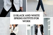 15 black and white spring outfits for work cover