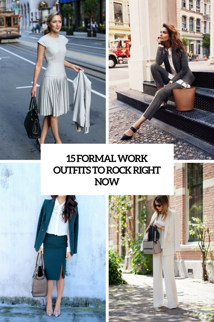 formal work outfits to rock right now cover