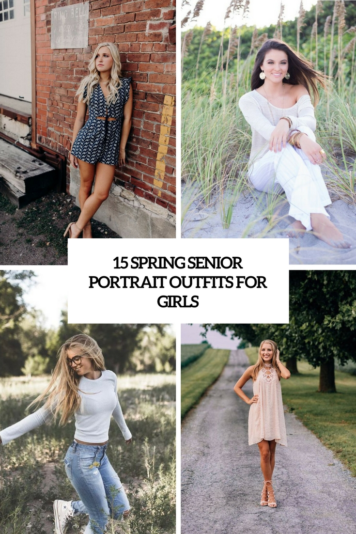 spring senior portrait outfits for girls cover