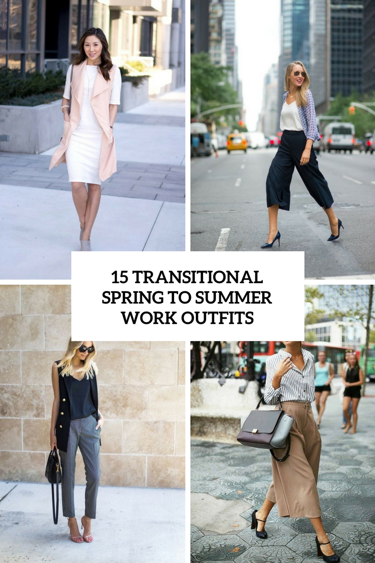 transitional spring to summer work outfits cover