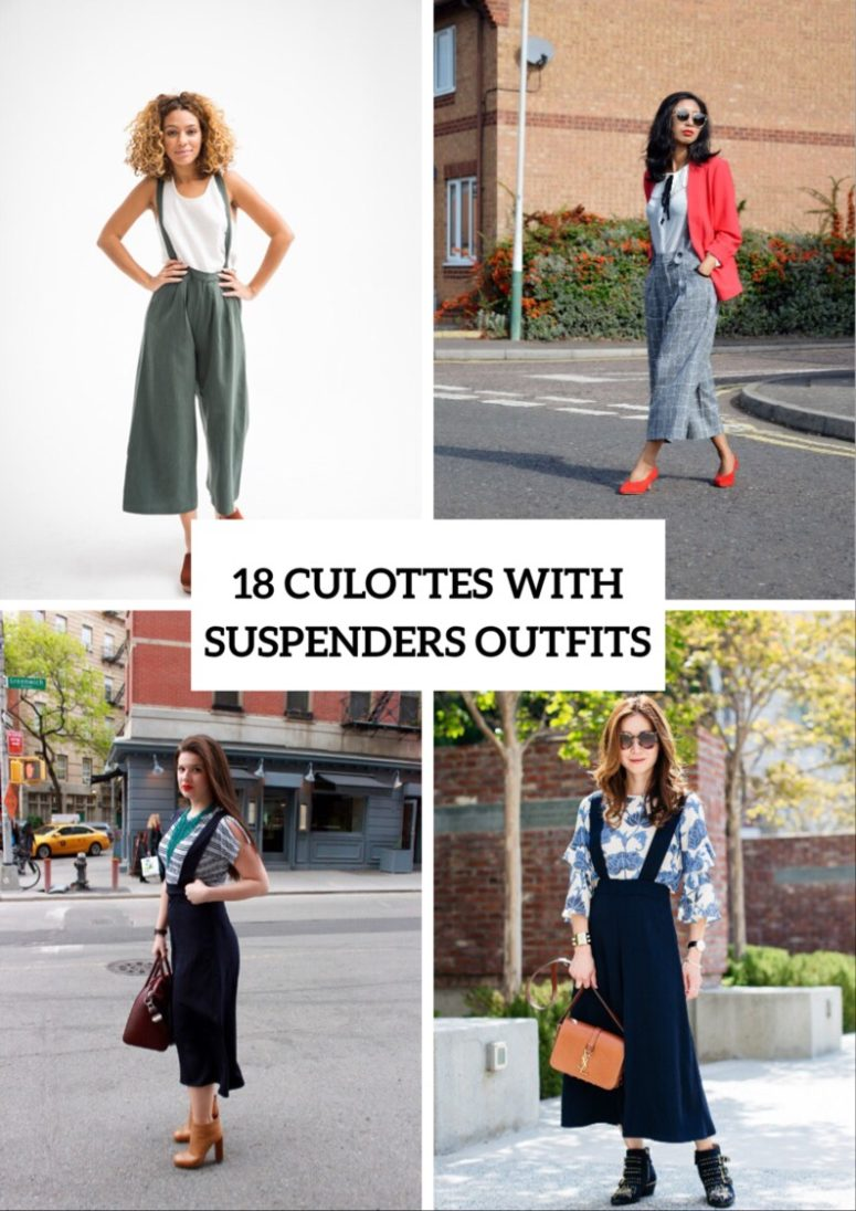 18 Wonderful Culottes With Suspenders Outfits