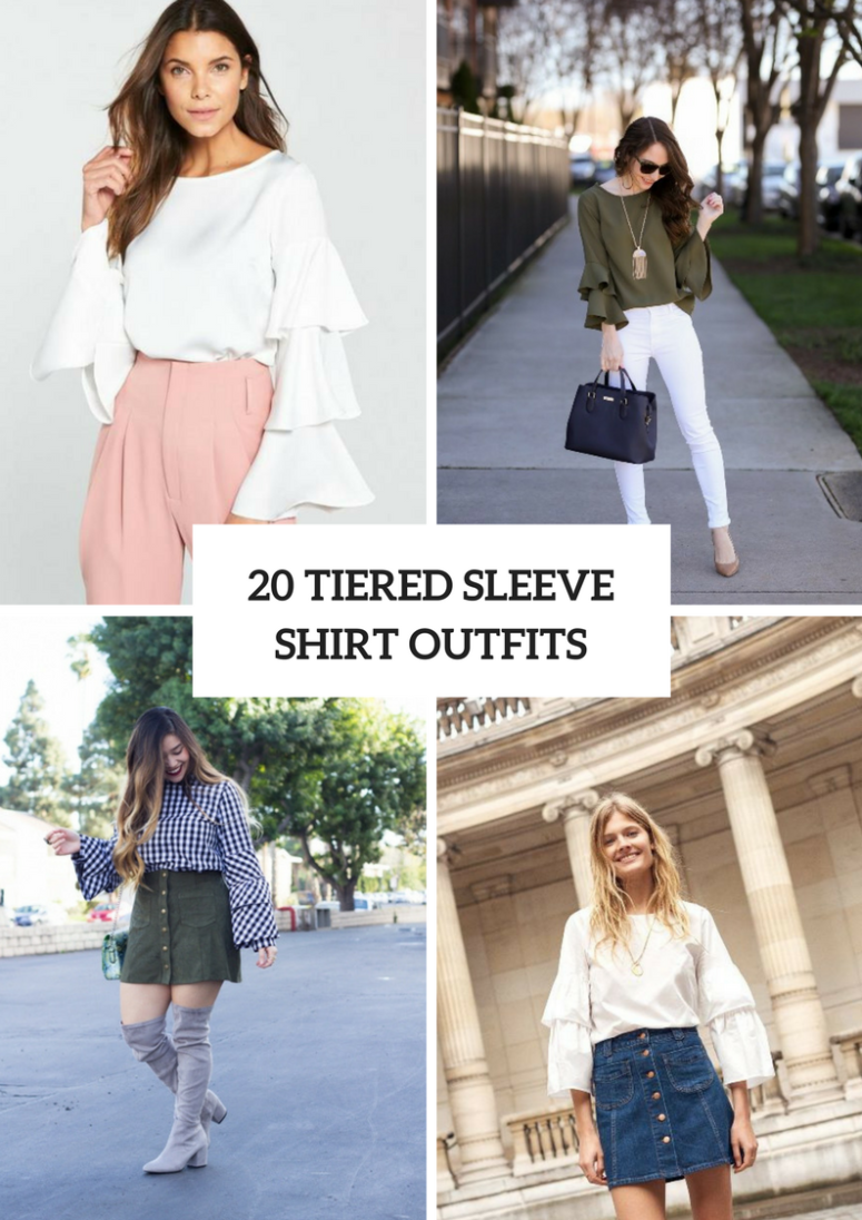20 Beautiful Outfits With Tiered Sleeve Shirts