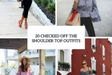 20 Checked Off The Shoulder Top Outfits