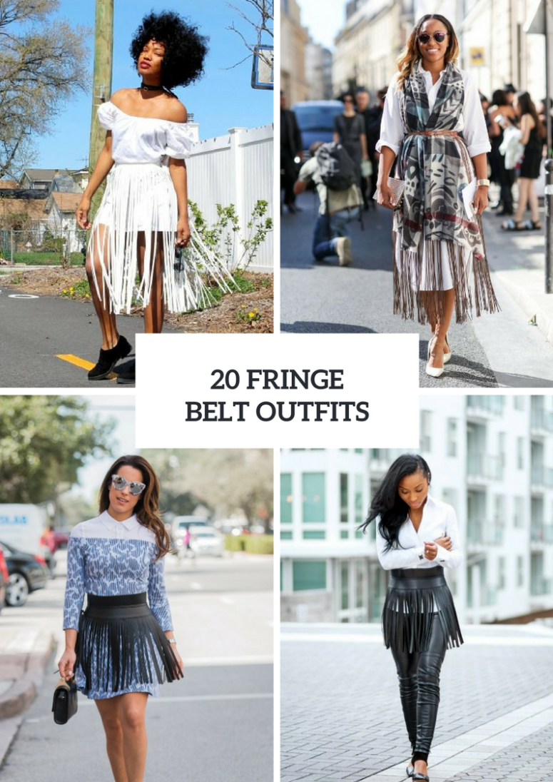 Cool Outfits With Fringe Belts