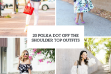 20 Incredible Outfits With Polka Dot Off The Shoulder Tops
