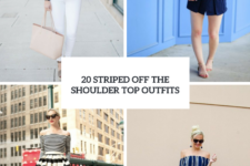 20 Outfits With Striped Off The Shoulder Tops