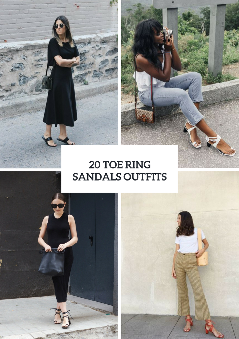 Outfits With Toe Ring Sandals