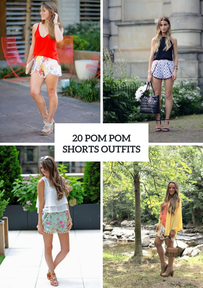 Summer Outfits With Pom Pom Shorts