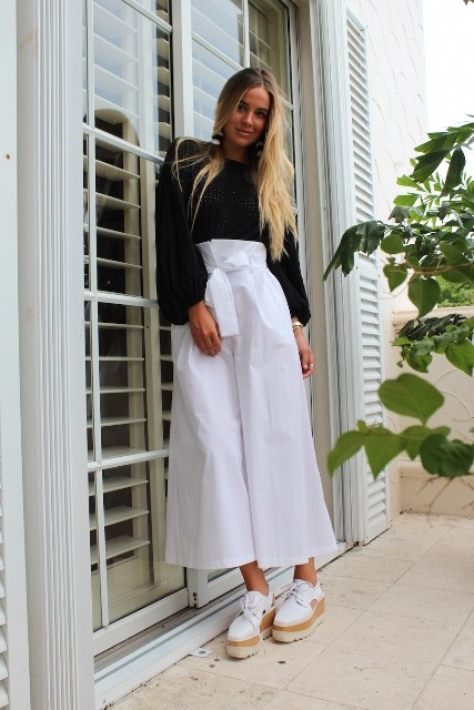 spring look with platform shoes