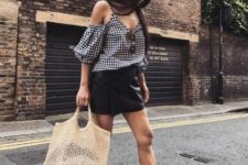 summer look with a tote