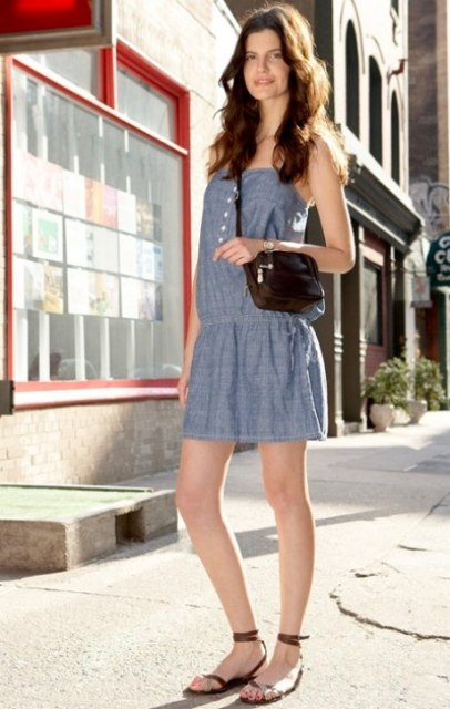 With dress and crossbody bag