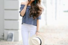 summer look with black sandals