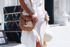 all white summer look