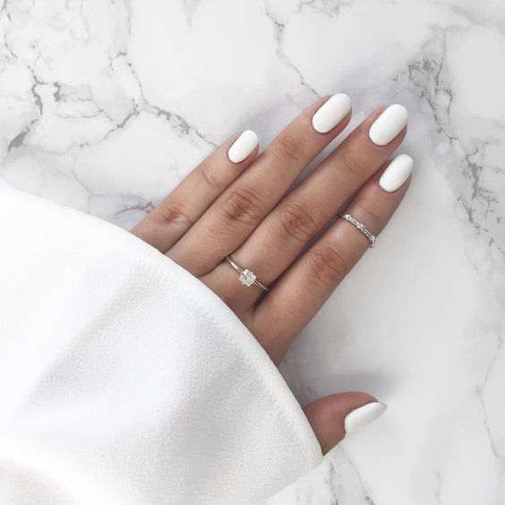 matte white nails are available at many offices, too