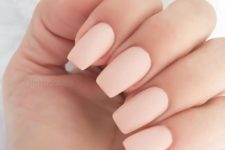 05 light pink matte manicure cna be worn to work or on usual days