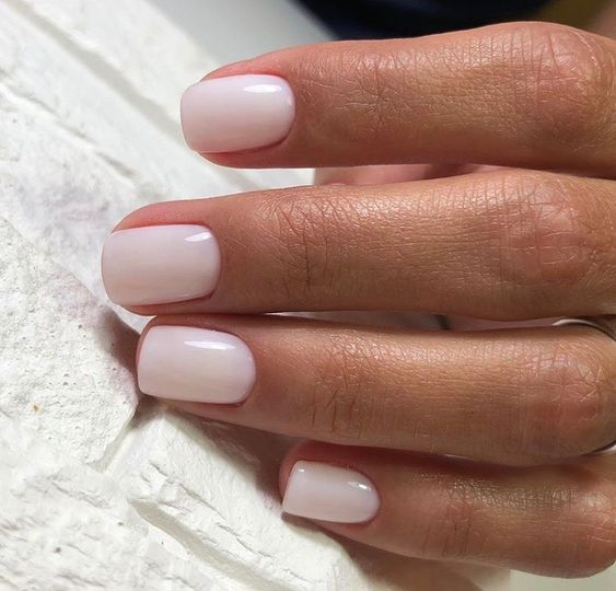 nude creamy color is very chic and refreshing and looks cool with tanned skin