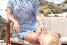 11 a blue crocheted tunic is a cool piece and can be easily and fast DIYed