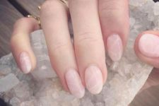 11 pink quartz nails are a cute and girlish idea to wear this summer