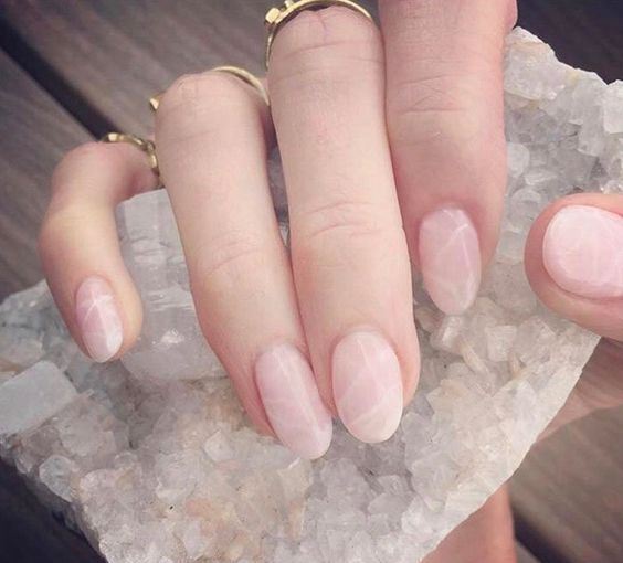 pink quartz nails are a cute and girlish idea to wear this summer