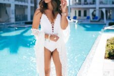 white coverup for a white swimsuit