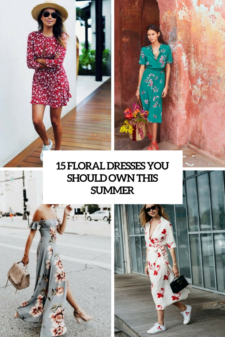 15 Floral Dresses You Should Own This Summer