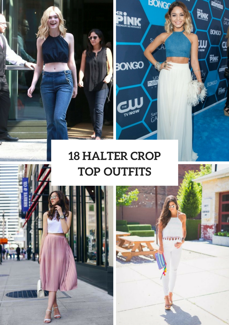 Awesome Outfits With Halter Crop Tops